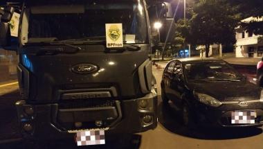 BPFron apreende caminhão com sinais de adulteração em Guaíra