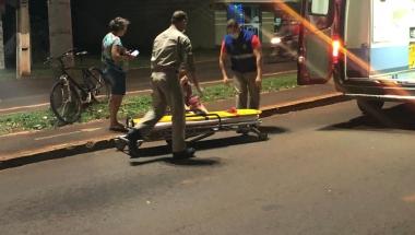 Jovem de 19 anos sofre queda de bicicleta e resulta com ferimentos em Marechal Rondon