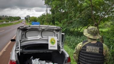 BPFRON aprende agrotóxicos contrabandeados durante Operação Hórus em Foz do Iguaçu