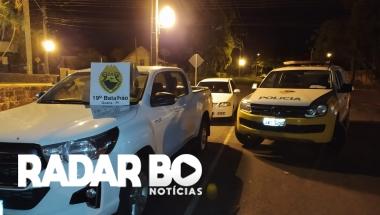 PM de Guaíra recupera Hilux roubada e dois elementos são presos