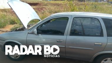 PM recupera Corsa com alerta de furto em Toledo