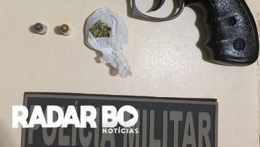 BPFron apreende arma de fogo, droga e munição em Terra Roxa