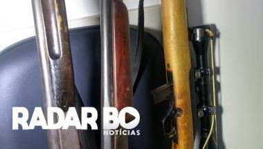 Após irmão ameaçar o outro, PM apreende armas e munições em Toledo
