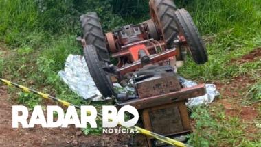 Trator tomba e mata idoso de 92 anos no interior do Paraná