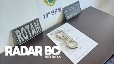 ROTAM cumpre mandado de prisão após abordagem em Toledo
