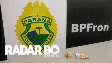 BPFRON apreende crack durante operação em Guaíra