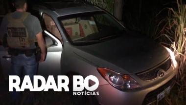 PF apreende 01 veículo Santa Fé carregado com cigarros contrabandeados em Terra Roxa