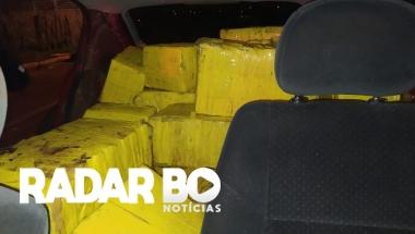 Após colidir contra carro parado, PM de Guaíra apreende mais de 700 kg de maconha