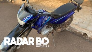 Acidente entre duas motos é registrado no centro de Nova Santa Rosa