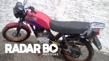 Moto furtada em Jesuítas é recuperada pela Polícia Militar